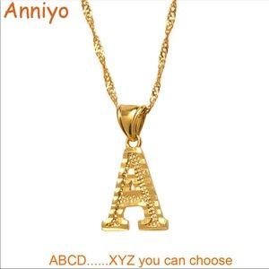 Thin Chain English Letter Jewelry Alphabet Gift